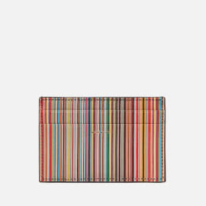 PS Paul Smith Men's Leather Internal Stripe Credit Card Holder - Black