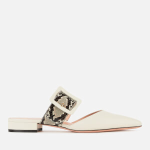 Bally Women's Jemina Flat-Sp Leather Mules - Bone