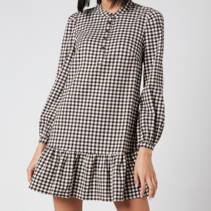 Whistles Women's Gingham Dress - Brown/Multi
