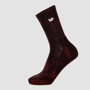 MP Women's Adapt Tie Dye Socks - Merlot/Black