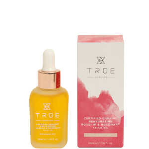 TRUE Skincare Certified Organic Rehydrating Rosehip and Rosemary Facial Oil 30ml