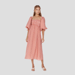Sleeper Women's Atlanta Linen Dress - Red Gingham