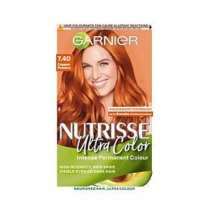 Garnier Nutrisse Ultra Colour Permanent Hair Dye - 7.40 Copper Passion 160ml