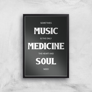 Sometimes Music Is The Only Medicine The Heart And Soul Need Giclee Art Print