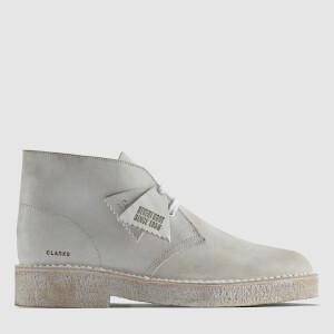Clarks Original Men's Suede Desert Boots 221 - White/White