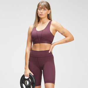 MP Women's Power Ultra Sports Bra - Port/Black