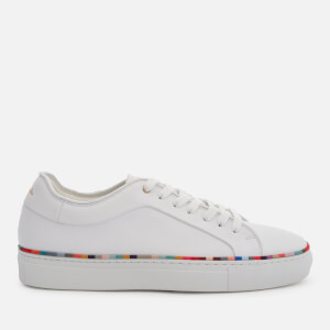 Paul Smith Women's Basso Leather Cupsole Trainers - White Swirl