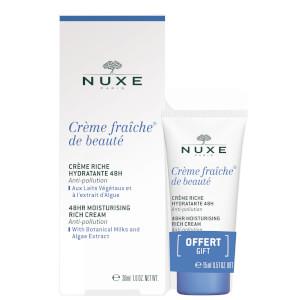 NUXE Crème Fraiche de Beauté 48hr Moisturising Cream for Dry Skin 30ml with 15ml Gift