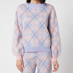 Olivia Rubin Women's Nettie Knitted Check Jumper - Check Mix