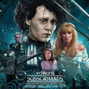 Waxwork Edward Scissorhands (30th Anniversary Deluxe Original Motion Picture Soundtrack) LP Blue