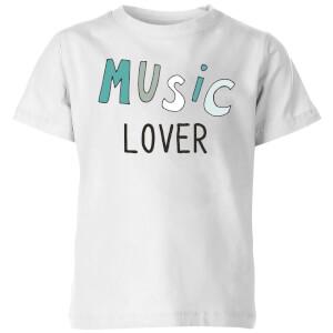 Music Lover Kids' T-Shirt - White
