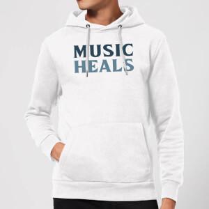 Music Heals Hoodie - White