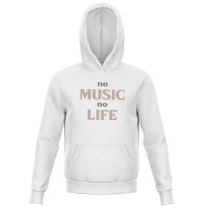 No Music No Life Kids' Hoodie - White