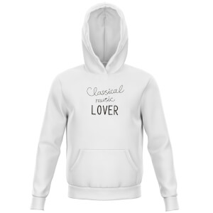 Classical Music Lover Kids' Hoodie - White