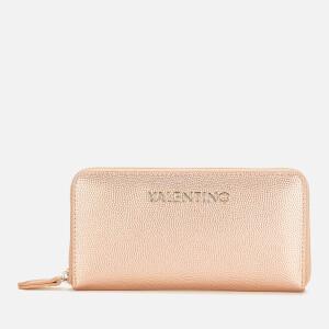 Valentino by Mario Valentino Women's Divina Large Zip Around - Rose Gold