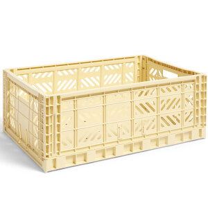 HAY Colour Crate Light Yellow - L