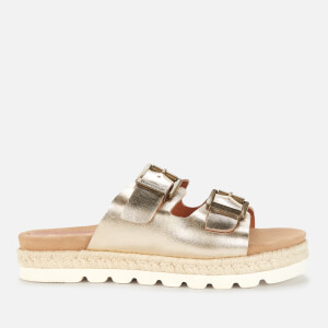 Barbour Women's Lola Leather Espadrille Sandals - Gold