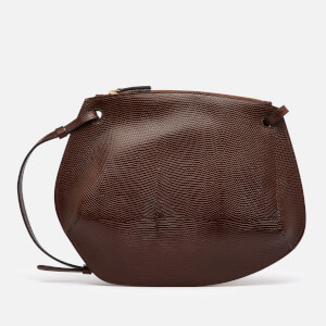 Little Liffner Women's Pebble Lizard Cross Body Bag - Dark Brown