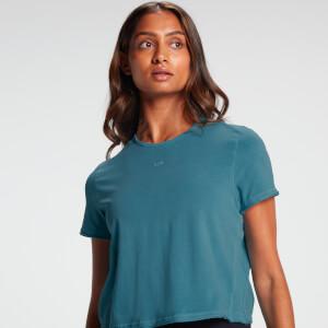 MP Women's Raw Training Cropped T-Shirt - Ocean Blue