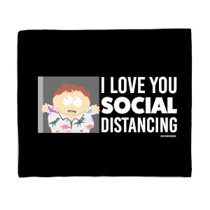 South Park I Love You Social Distancing Fleece Blanket