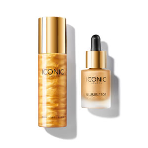 ICONIC London Exclusive Gold Prep-Set-Glow and Illuminator Duo (Worth £52.00)