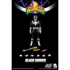 ThreeZero Power Rangers Black Ranger 1:6 Scale Figure