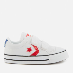 Converse Toddlers' Star Player Ox Velcro Trainers - White/University Red
