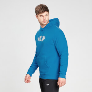MP Men's Chalk Graphic Hoodie - Aqua