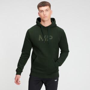 Gradient Line Graphic 基礎純棉系列 男士連帽衫 - 深綠