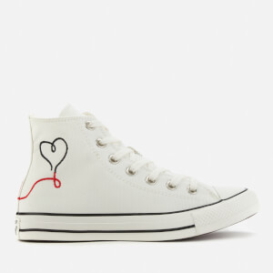 Converse Chuck Taylor All Star Love Thread Hi-Top Trainers - Vintage White