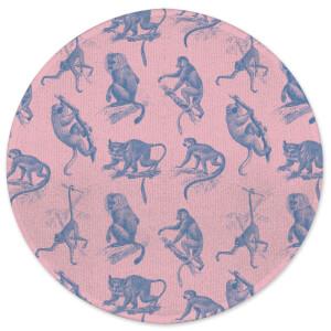 Earth Friendly Monkeys Round Bath Mat