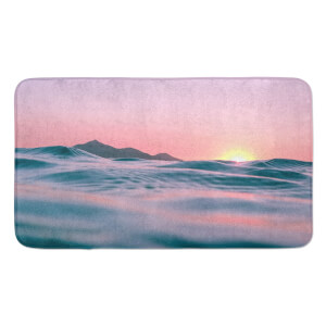 Earth Friendly Sunset With Water Large Bath Mat