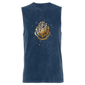 Harry Potter Golden Hogwarts - Navy Acid Wash Men's Vest