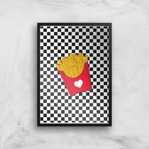 Fries Heart Giclee Art Print