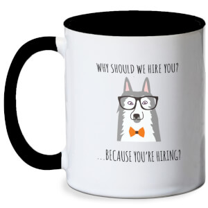 Work Dog Meme Mug - White/Black