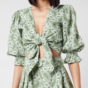Faithfull The Brand Women's Jacinta Top - Sable Paisley Print/Green