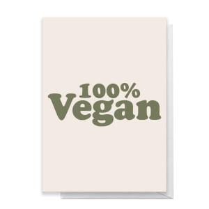 100% Vegan Greetings Card