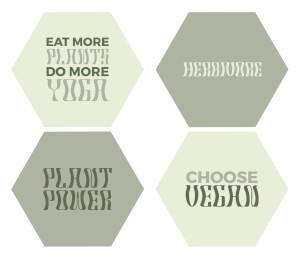 Plant Power Hexagonal Coaster Set