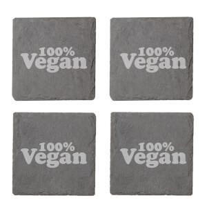 Vegan Collection 2020 100% Vegan Engraved Slate Coaster Set