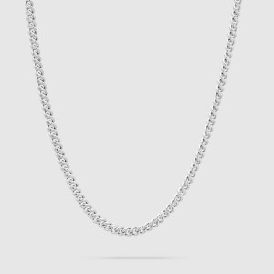 Tom Wood Men's Rounded Curb ChainThin - Sterling Silver
