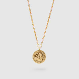 Tom Wood Men's Coin Pendant Angel Gold Short - Sterling Silver/Gold