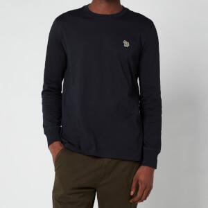 PS Paul Smith Men's Regular Fit Zebra Logo Long Sleeve T-Shirt - Dark Navy