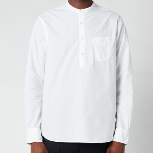 Officine Generale Men's Auguste Cotton Poplin Shirt - White