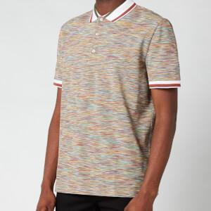 Missoni Men's Stripe Jersey Pique Polo Shirt - Multi