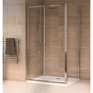 Aqualux Sliding Door 1700 x 700mm Shower Enclosure and Tray Package
