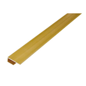 Cover Strip Stepped Laminate Floor Edge - Gold 1800mm
