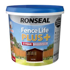 Ronseal Fence Life Plus Dark Oak - 5L