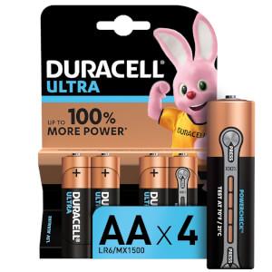 Duracell Ultra AA Batteries - 4 Pack