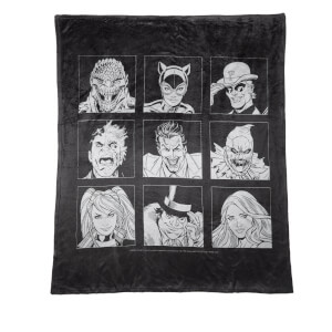 Batman Villains Icon Fleece Blanket