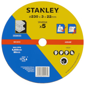Stanley 230mm Metal Cutting Disk Pack - STA32805-QZ